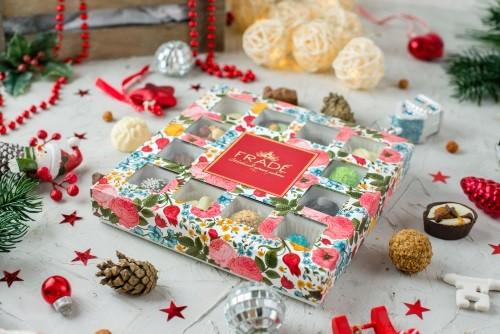 Подарочный набор конфет ручной работы Квадраты