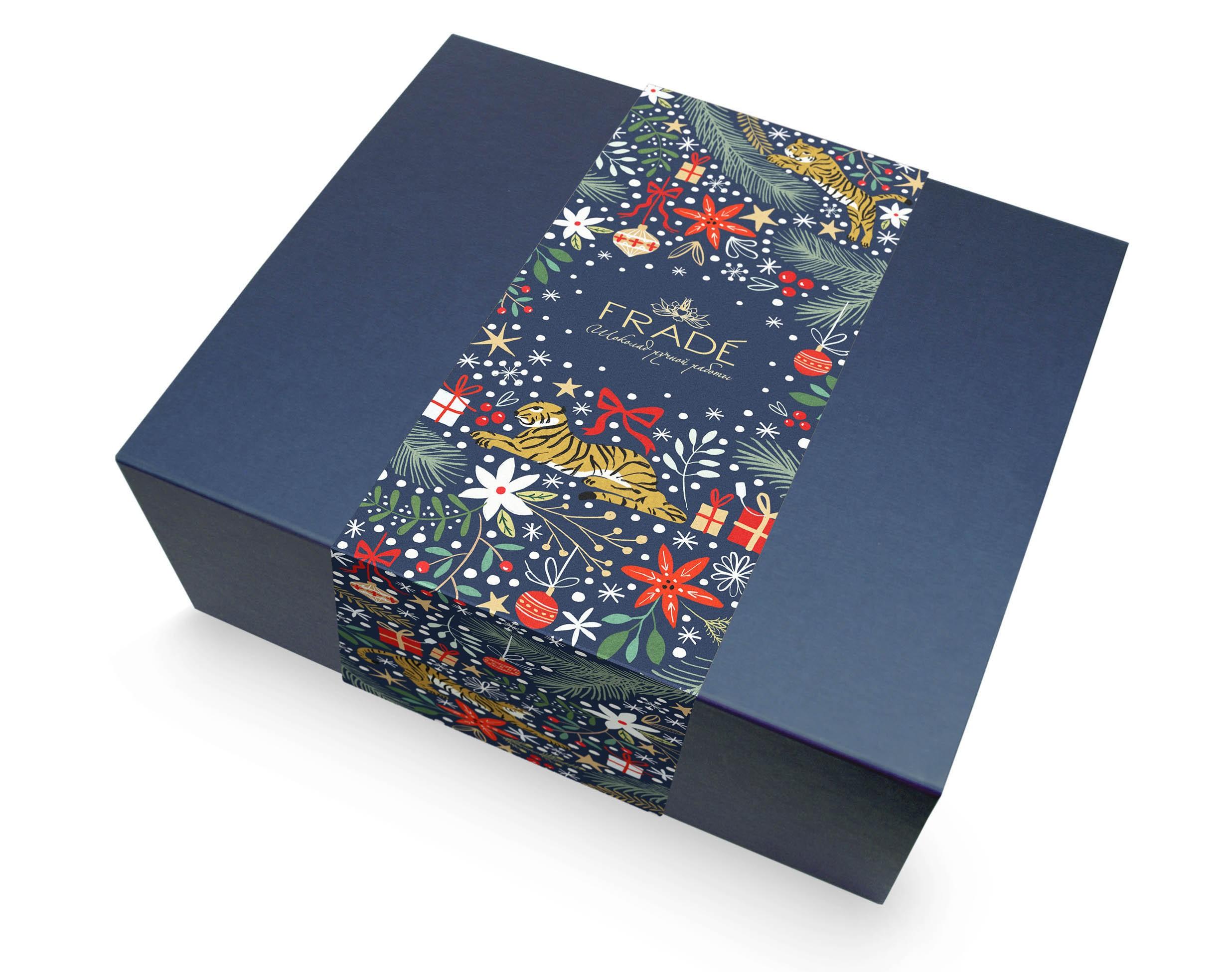 Тематический набор конфет ручной работы Тройное удовольствие на новый год