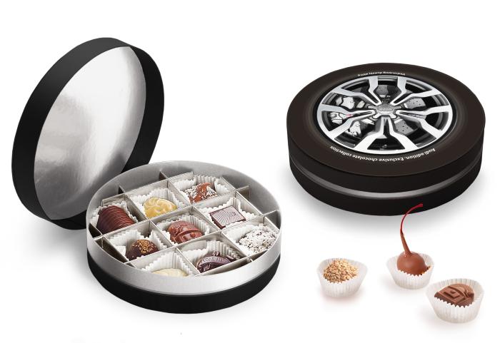 Подарочный набор конфет ручной работы Круглая