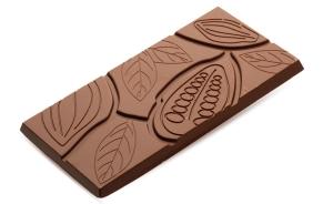 Шоколадная плитка 100гр (темный шоколад 53,8% какао)