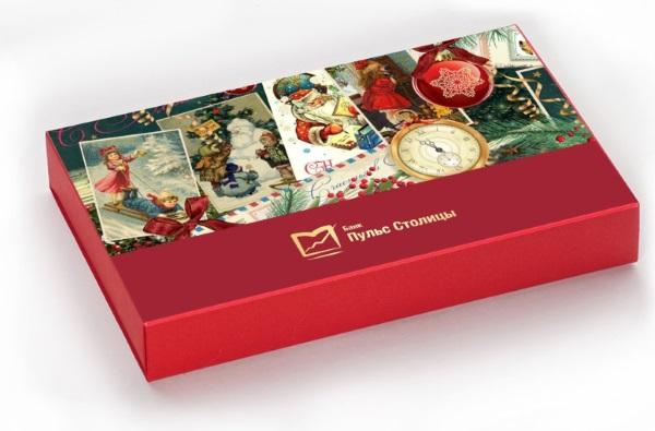 корпоративный набор конфет ручной работы Банк Пульс Столицы