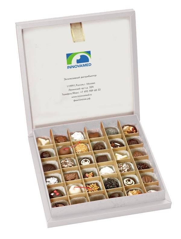 корпоративный набор конфет ручной работы Инновамед