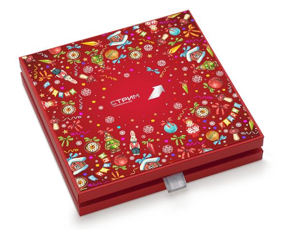 пример набора конфет для телекомпании Стрим